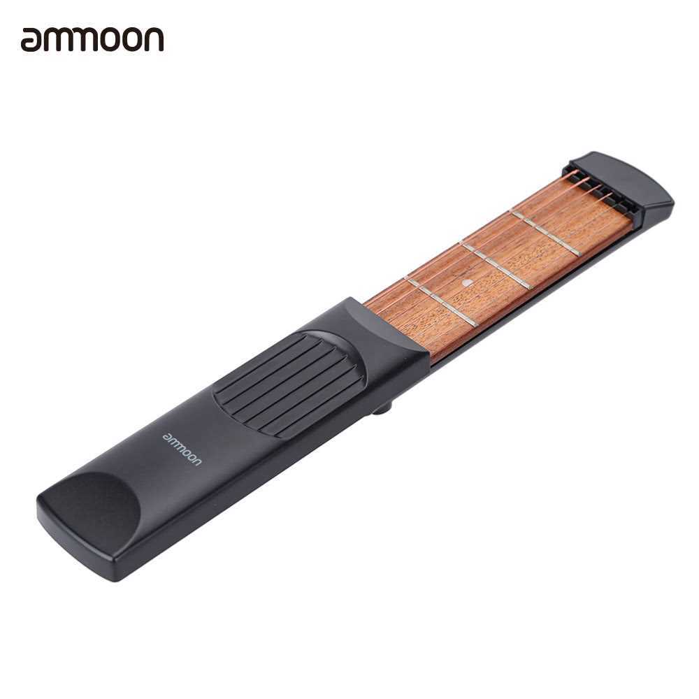 ammoon Portable Pocket Acoustic Guitar Practice Tool Gadget Chord Trainer 6 String 4 Fret Model for Beginner Malaysia