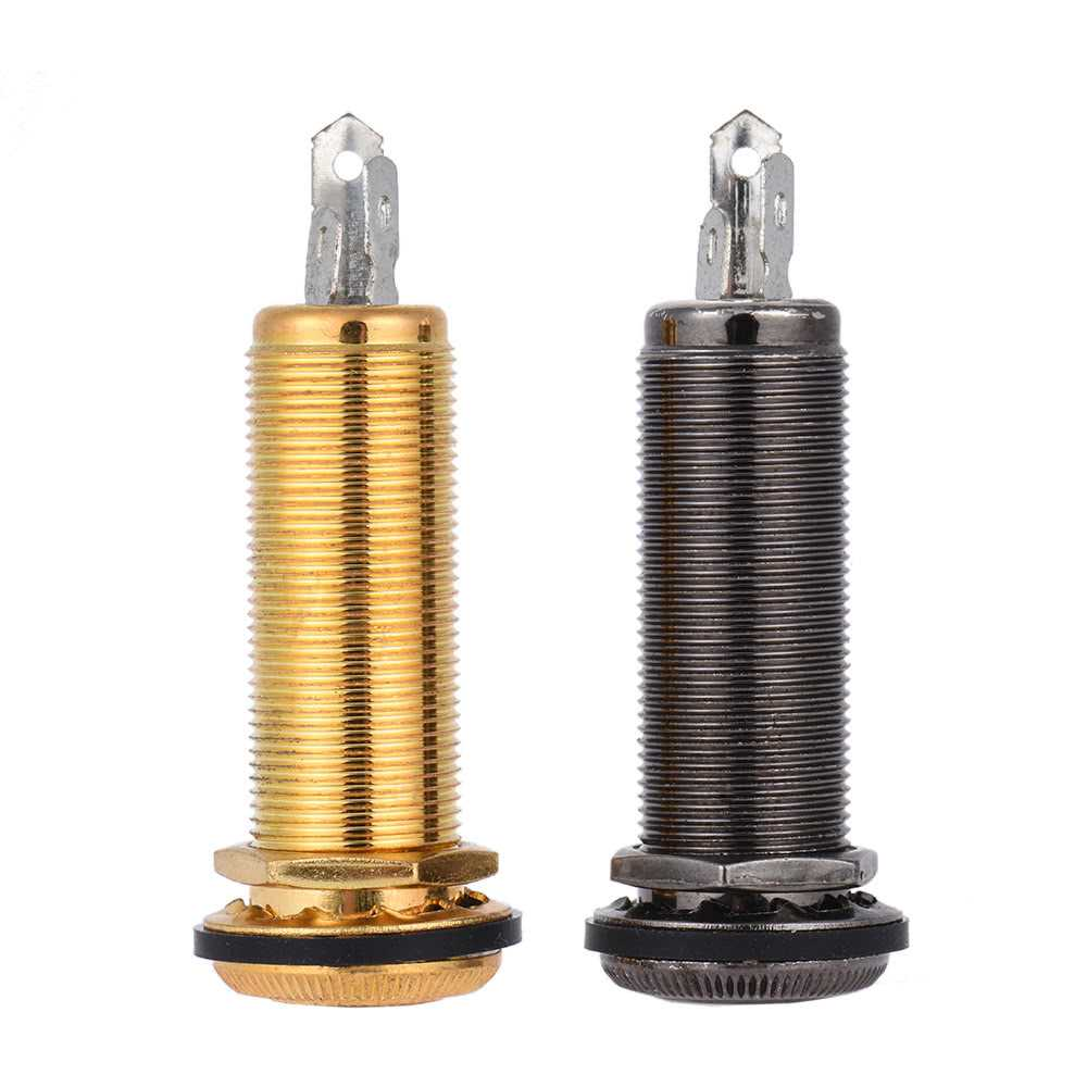 [ MANHATTAN ] 6.35mm 1/4 Inch End Pin Endpin Jack Socket Plug Mono Output Copper Material for Acoustic Electric Guitar (Gold) Malaysia
