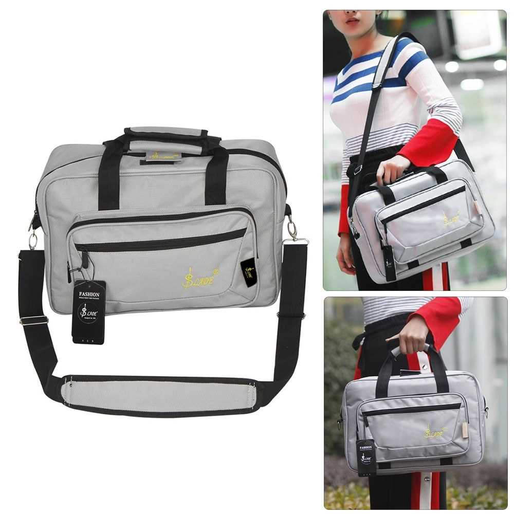 [ MANHATTAN ] Universal Oboe Clarinet Soft Carrying Bag Backpack Case Sponge Padding with Shoulder Strap (Grey) Malaysia