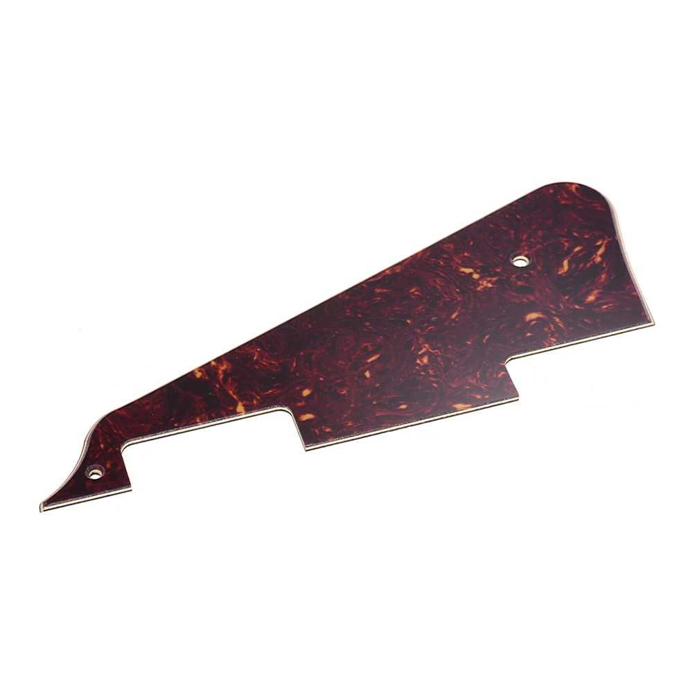 [ MANHATTAN ] Guitar Pick Guard Plate Set with Bracket Screws PVC Pickguard for Gibson LP Style Electric Guitars Brown Tortoise (Brown) Malaysia