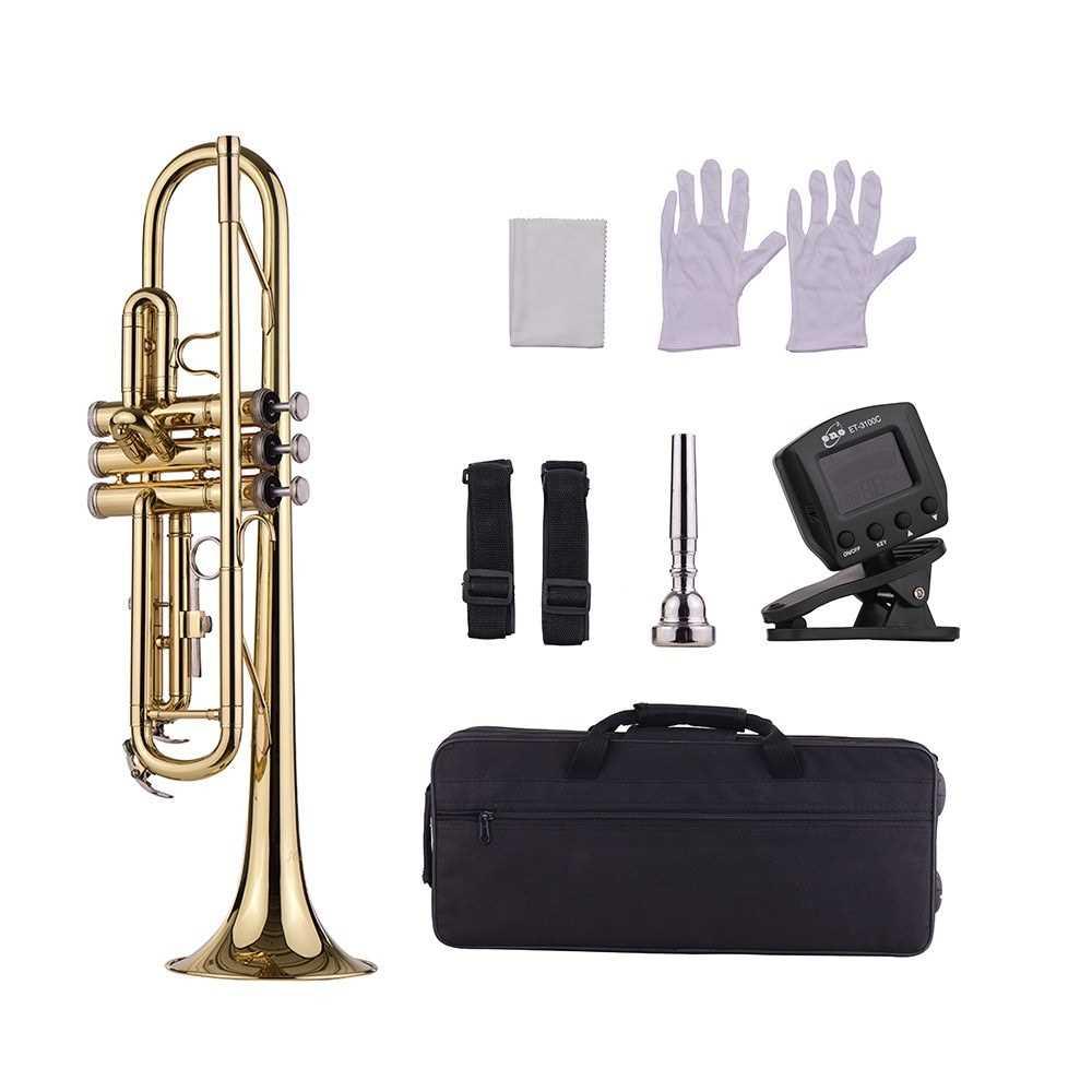 [ MANHATTAN ] Muslady Standard Bb Brass Trumpet (Gold) Malaysia