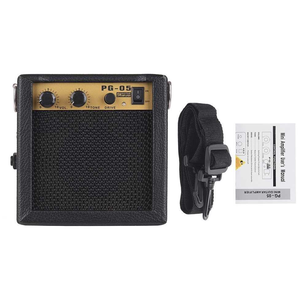 [ MEG.CQ ] Wooden Mini Guitar Amplifier Amp Speaker () Malaysia