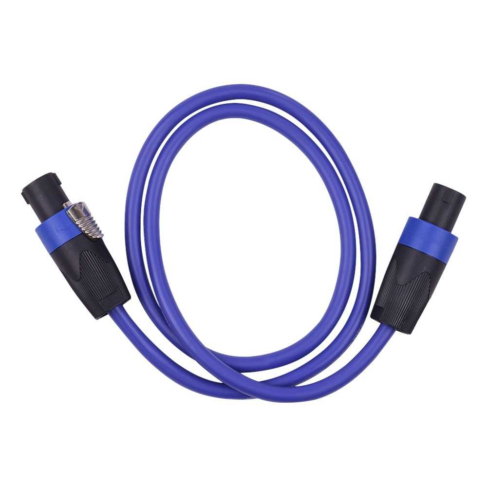 [ MEG.CQ ] 12AWG Stage Mixer Cables Audio Amplifier Cord Speaker Connector Male to Male Four Core Oxygen Free Copper Conductor NL4FC Blue 1m (Blue) Malaysia