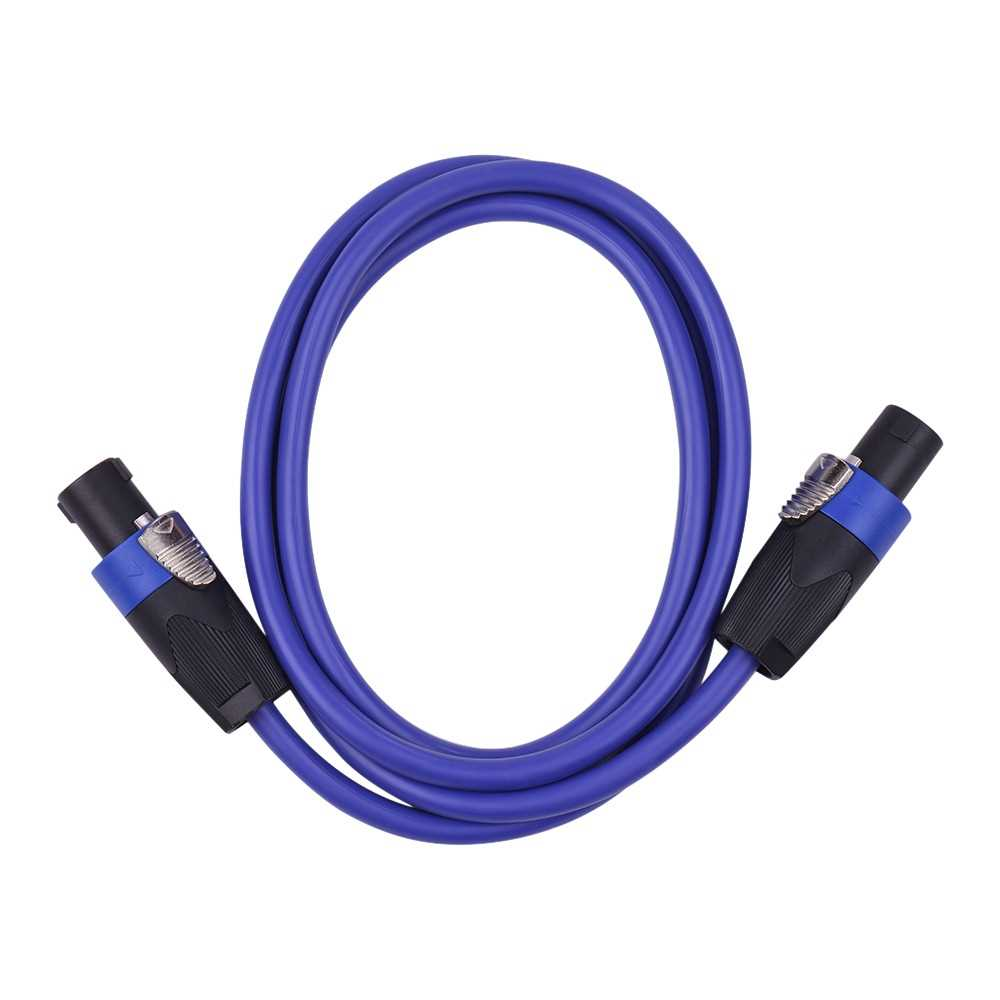 [ MEG.CQ ] 12AWG Stage Mixer Cables Audio Amplifier Cord Speaker Connector Male to Male Four Core Oxygen Free Copper Conductor NL4FC Blue 1.5m (Blue) Malaysia