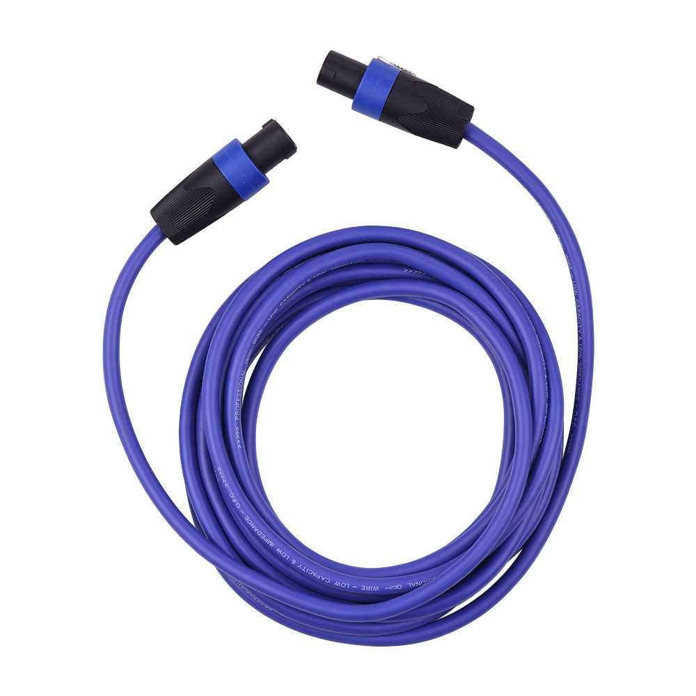 [ MEG.CQ ] 12AWG Stage Mixer Cables Audio Amplifier Cord Speaker Connector Male to Male Four Core Oxygen Free Copper Conductor NL4FC Blue 5m (Blue) Malaysia