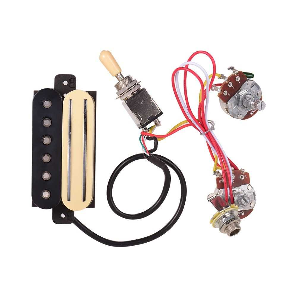 [ MANHATTAN ] Electric Guitar Dual Rail Bridge Humbucker Pickup and Single Coil Pickup with Three-Section Switch Wire Line for ST for Cigar Box Guitars (Standard) Malaysia