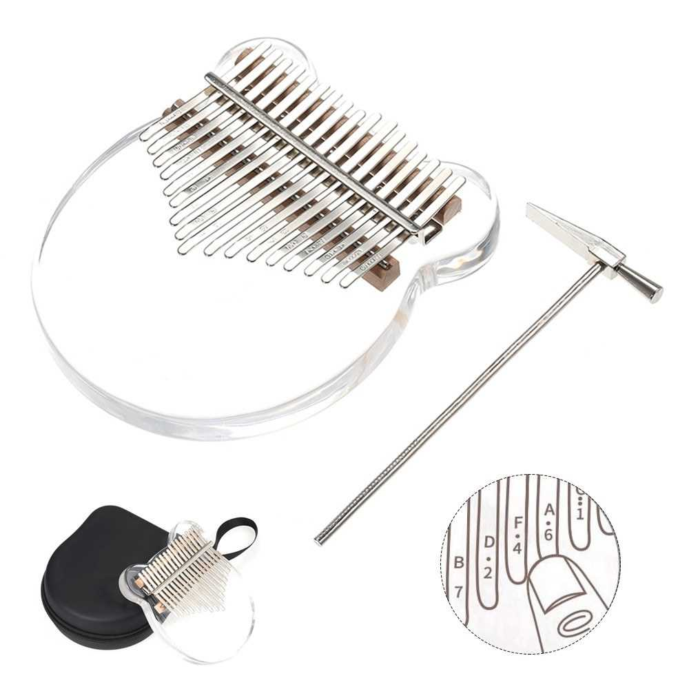 [ MEG.CQ ] 17 Keys Transparent Thumb Piano Kalimba Finger Piano Musical Instrument with Kalimba Case Tune Hammer (Standard) Malaysia