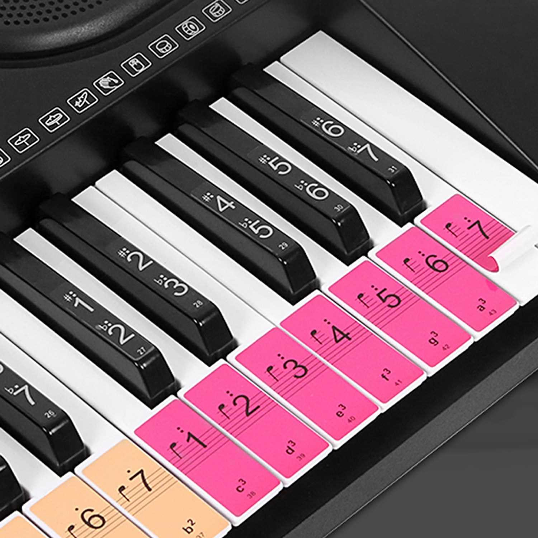 Piano Keyboard Keys Stickers for Beginners for 88/61/54 Keys Piano (Standard) Malaysia