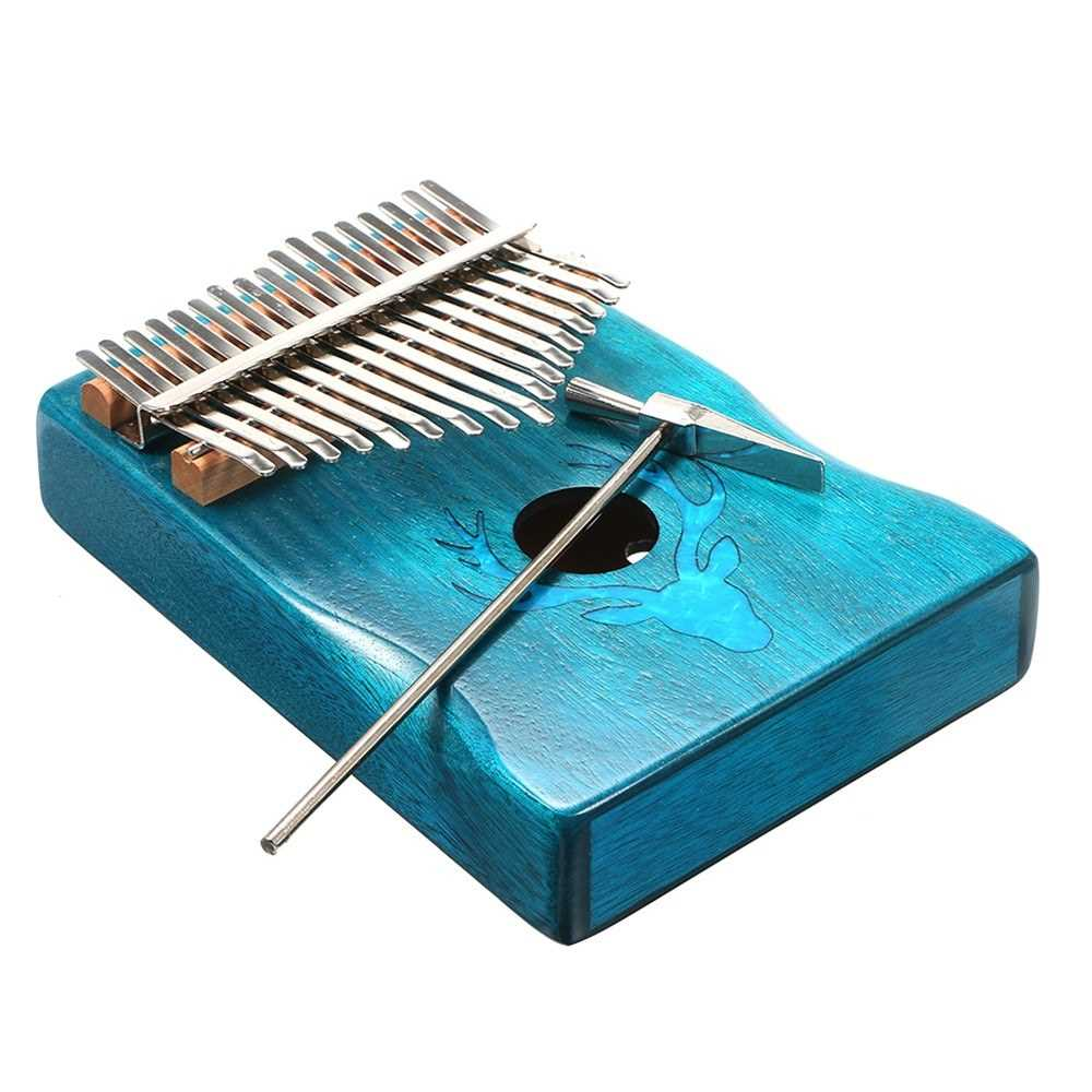 [ MANHATTAN ] 17 Keys Kalimba Elk Thumb Piano with Hammer Portable Musical Instrument Dreamy Elk Blue Color (Standard) Malaysia