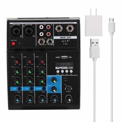 BT Professional 4 Channel Sound Mixing Console and Monitor Paths Plus Effects Processor with USB (Standard)