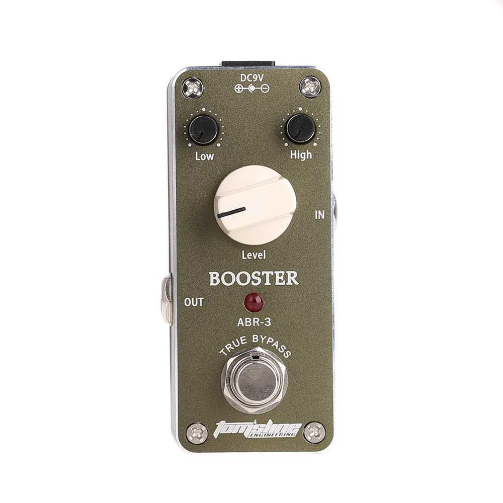 Aroma ABR-3 Mini Booster Electric Guitar Effect Pedal with Fastener Tape Aluminum Alloy Housing True Bypass (Dark Grey) Malaysia