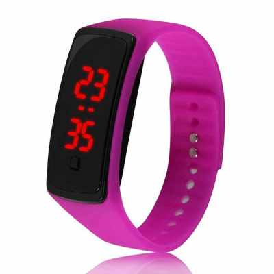 JY0932 Multi-function Digital Electronic Watch Fashion Casual Outdoor Sports Wristwatch Hour Minute Display Watch for Business Student (Rose Red)