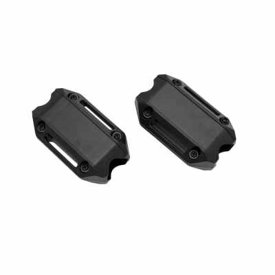 Motorcycle Engine Guard Bumper Protection Decorative Block 25mm Shock Bar 2Pcs for BMW  F650GS F700GS F800GS R1200GS LC R1200 GS ADV (Black)