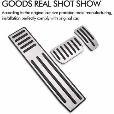 Car Brake & Accelerator & Footrest Pedal Cover Pads Replacement for Tesla Model X/S 1 Set 3 Pcs (Standard)