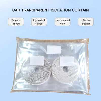 Car Isolation Film Anti-droplet , Fully Enclosed Transparent Isolation Curtain Protective Film Sealed Self-adhesive Partition Curtain For Cars, Taxies (Standard)