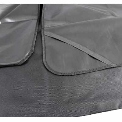 Tirol New Pet/Cat/Dog Seat Cover Waterproof Mat Car Back Seat Cover Bench Protector with Belts (black red)