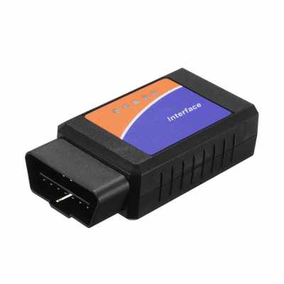 Black OBD OBD? Scanner Tool Detector with BT Connection for IOS Android Windows Service (Standard)