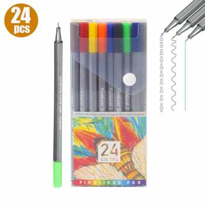 24 Colored Pens Set 0.4mm Fine Point Tip Fineliner Color Pen Marker Perfect for Journaling Planner Writing Note Taking Drawing Sketching Coloring Office School Art Supplies (24 Colors)