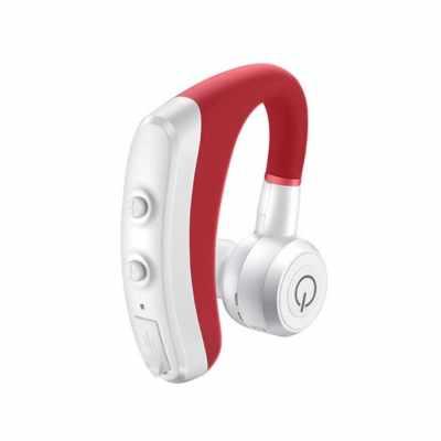 K5 In-ear Wireless Earphones BT Sports Business Earbuds Phone Headset With Mic Ear Hook For Men Women (Red)