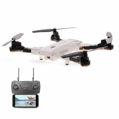 TKKJ TK117-1 Optical Flow Positioning Foldable Drone (White)