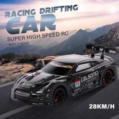 1/18 RC Car Racing Drifting Car 28km/h 4WD High Speed Racing Car Kids Gift RTR (Black)
