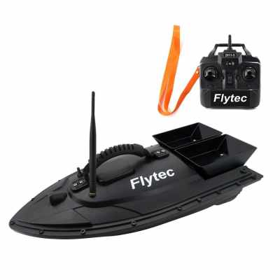 Flytec 2011-5 Fish Finder 1.5kg Loading Remote Control Fishing Bait Boat RC Boat KIT Version DIY Boat (Black_1)