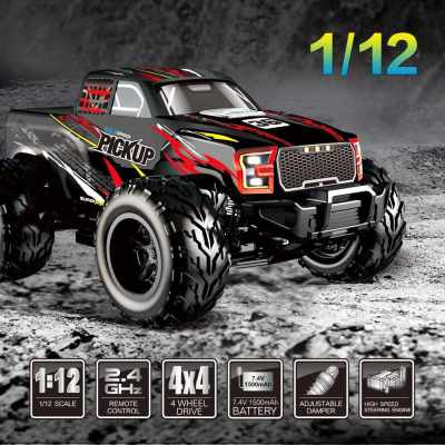 Flytec 8897 1:12 RC Car Pickup Truck Off-Road 35km/h 4WD 2.4G Remote Control Vehicle RTR for Kids Toys (Standard)