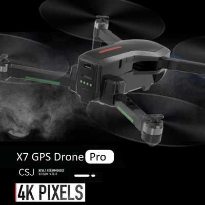 CSJ-X7GPS Brushless 4K Drone with Camera 5G Wifi FPV Foldable Auto Return Optical Flow Positioning Gesture Photo MV Editing GPS Quadcopter with 3 Battery a Handbox (Black)