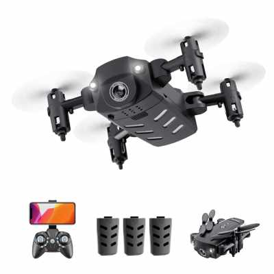 KK8 Mini Drone RC Quadcopter 720P HD Camera 15mins Flight Time 360 Degree Flip 6-Axis Gyro Altitude Hold Headless Remote Control for Kids or Adults Training 3 Battery (23)