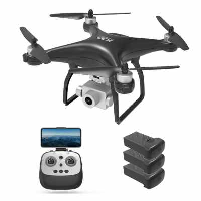 X35 RC Drone with Camera 1080P Camera 5G Wifi Brushless Drone 26min Flight Time GPS Follow Me Waypoint Flight RC Quadcopter 3 Batteries (Black)