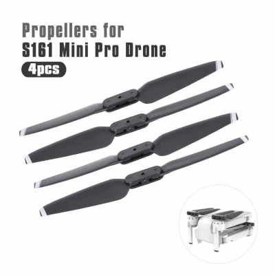 for CSJ S161 Min Pro RC Drone 4pcs Drone Propeller Blades Paddles (Black)