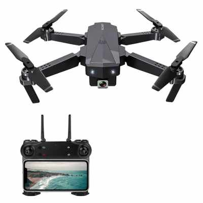 SG107 Foldable Mini Drone with Camera 4K HD Indoor RC Quadcopter APP Control Headless Mode 360°  Rotation Trajectory Flight for Adults Kids Beginners Great Gift Toy (Black)