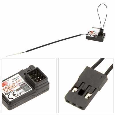 2Pcs Flysky FS-GR3E AFHDS 2.4G 3CH Receiver for GT3B GT2 GT3C Transmitter (Standard)