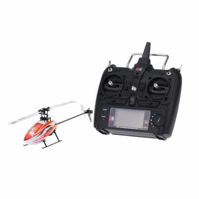 XK Blast K110 6CH 3D 6G System Brushless Motor RTF RC Helicopter (Red)