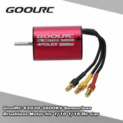 GoolRC S2838 3800KV Sensorless Brushless Motor for 1/18 1/16 RC Car (Standard)