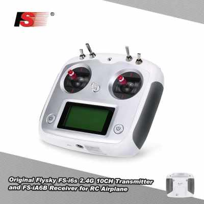 Original Flysky FS-i6s 2.4G 10CH AFHDS 2A Touchscreen Transmitter with FS-iA6B 6CH Receiver for RC Airplane Helicopter Multicopter (Black Red)