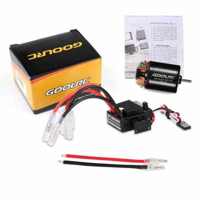 GoolRC 540 13T Brushed Motor with 60A ESC Combo for 1/10 Traxxas Ford F-150 RC Car (Multicolor)