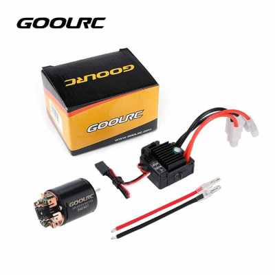 GoolRC 540 45T Brushed Motor with 60A Brushed ESC Combo for 1/10 RC Rock Crawler Climbing Car (Multicolor)