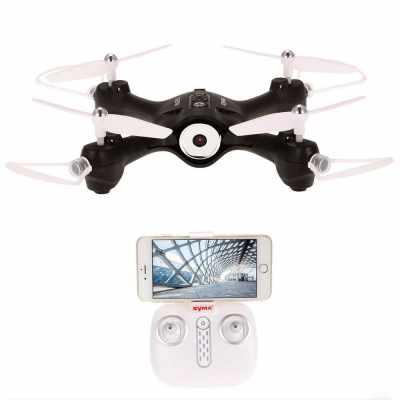 Syma X23W 0.3MP Camera Wifi FPV Drone Headless Mode Altitude Hold G-sensor Quadcopter (Black)