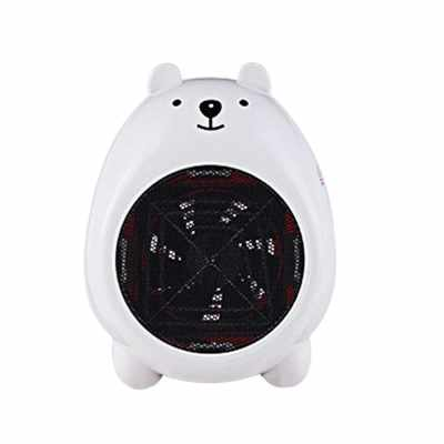 Cartoon Lovely Creative Practical Smart Mini Office Home Room Table Warm Air Blower Heater Portable Heating Machine 220V (White)