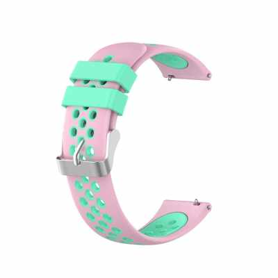 Watch Strap for MI Watch Unisex Silicone Wristband Wrist Strap Multiple Colors Optional (Pink And Green)