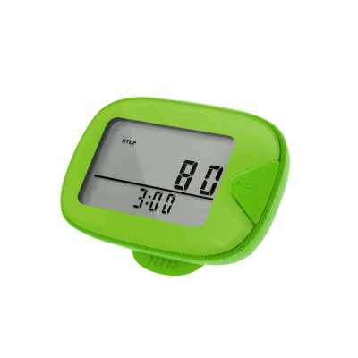 CR-873 LCD Walking Pedometer Multi-functional Step Counter with Clip Step Distance Calorie Tracker for Fitness Walking Step Gym Calorie Outdoor Sports (Green)