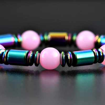 1 PCS Weight Loss Healthcare Round Black Stone Magnetic Therapy Hand Chain Body Care Hematite Stretch Bracelet Magnet Jewelry For Men Women (9)