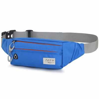 Marathon Running Belt Waist Pack Bum Bag for Men and Women Workout Fanny Pack Cell Phone Holder Bag (Light Blue)