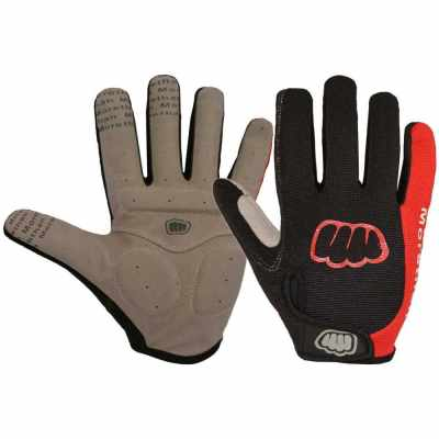 Women Men Winter Cycling Gloves Full Finger Thermal Fleece Touchscreen Bicycle Gloves Anti Slip Gel Pad Motorcycle MTB Road Bike Gloves (Red)