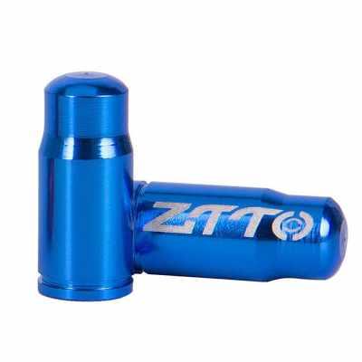 2pcs Bicycle Tire Valve Caps Ultralight Aluminum Mountain Road Bike Valve Cap for Presta Tire Valve Protector Dust Covers (Blue)