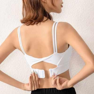 Women Sports Bra Push-up Shockproof Quick Dry Padded Crop-Top Tank-Top Underwear Yoga Workout Fitness Running (Wm)