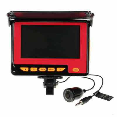 4.3inch Color Digital LCD 1000TVL Fish Finder (black red)