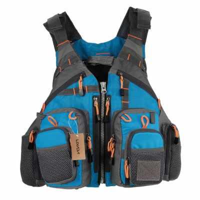 Lixada Outdoor Breathable Fishing Life Vest (blue)