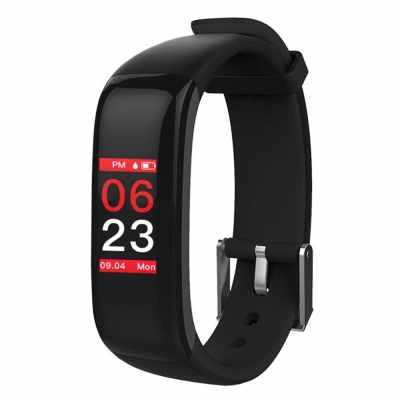 P1 PLUS Touch Button Smart Sport Bracelet (black)
